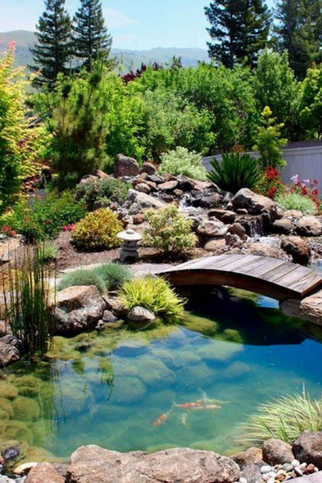 Cool Fish Pond Garden Landscaping Ideas For Backyard 10