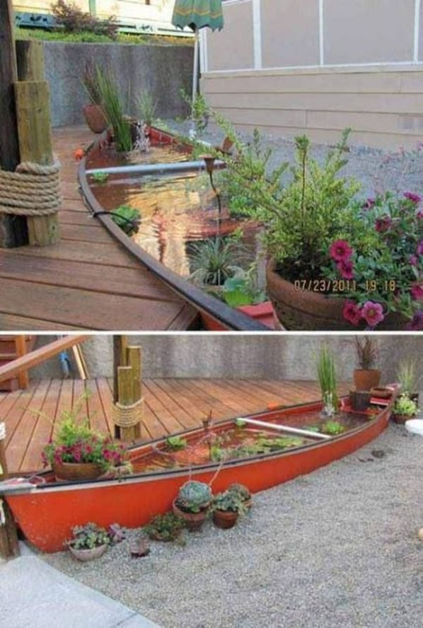 Cool Fish Pond Garden Landscaping Ideas For Backyard 15