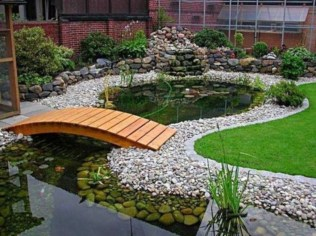 Cool Fish Pond Garden Landscaping Ideas For Backyard 22