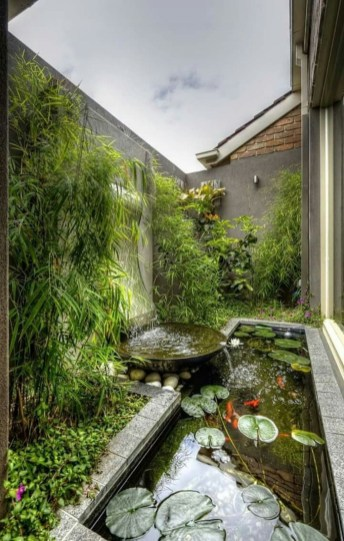 Cool Fish Pond Garden Landscaping Ideas For Backyard 35