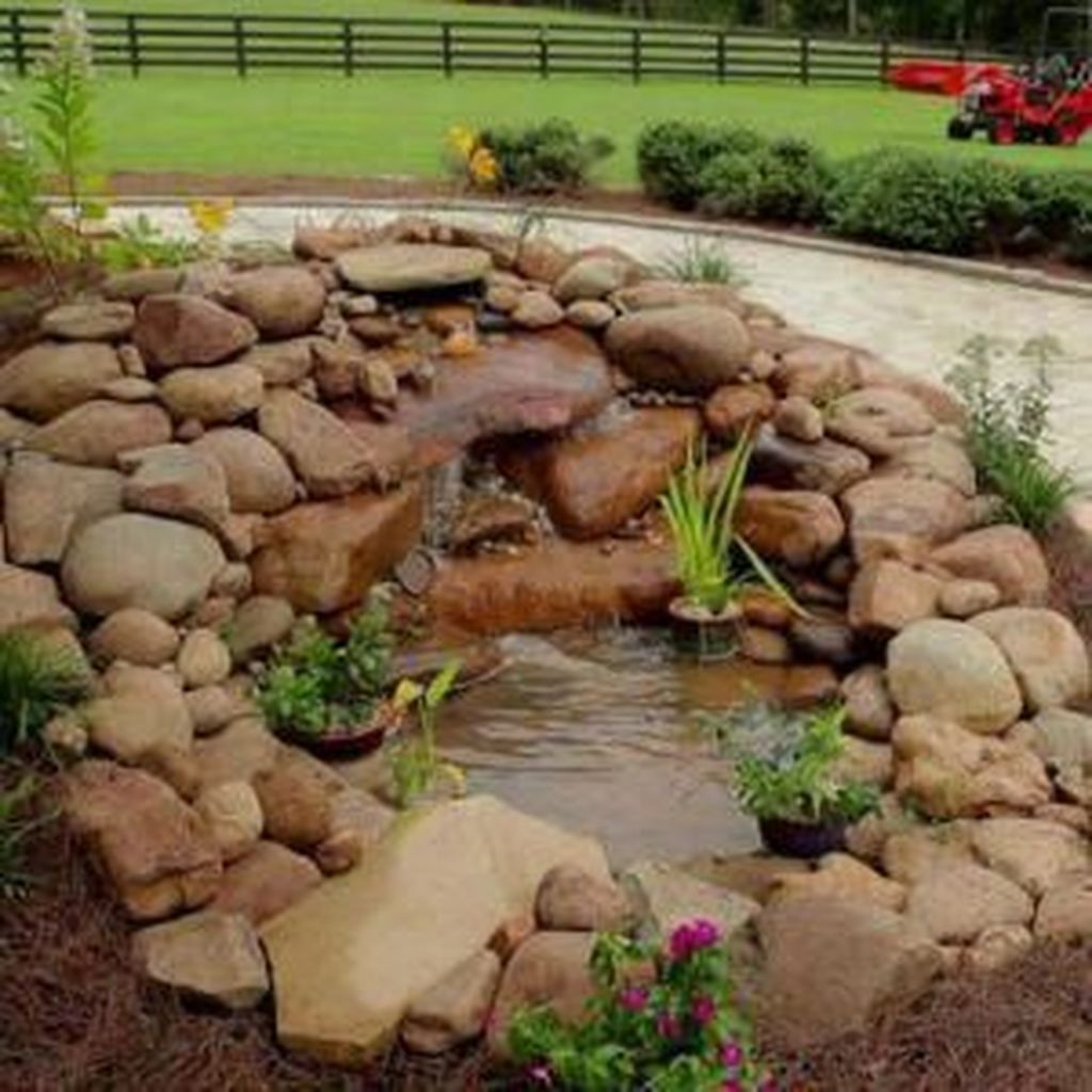 Cool Fish Pond Garden Landscaping Ideas For Backyard 45