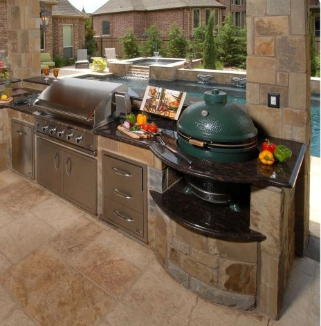 Cozy Outdoor Kitchen Decor Ideas For You 36