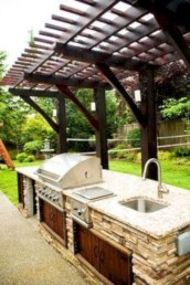 Cozy Outdoor Kitchen Decor Ideas For You 41