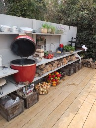 Cozy Outdoor Kitchen Decor Ideas For You 43