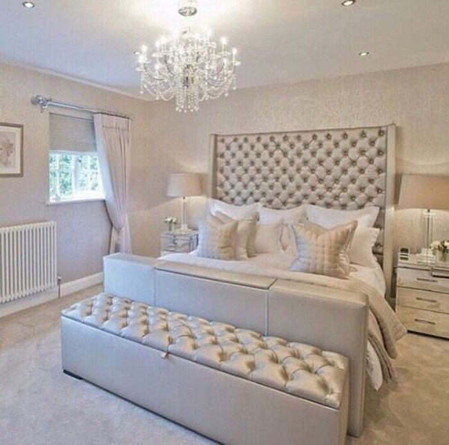 Fancy Champagne Bedroom Design Ideas To Try 26