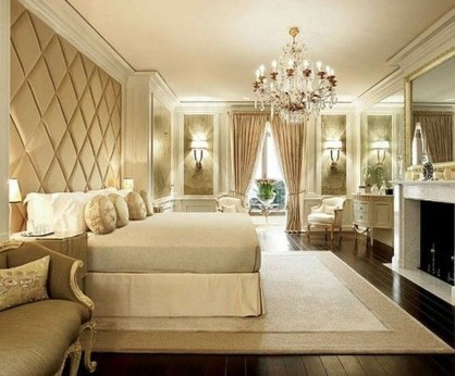 Fancy Champagne Bedroom Design Ideas To Try 35