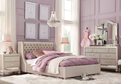 Fancy Champagne Bedroom Design Ideas To Try 40