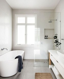 Inspiring Small Bathroom Design Ideas With Wood Decor To Inspire 18