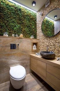 Inspiring Small Bathroom Design Ideas With Wood Decor To Inspire 19