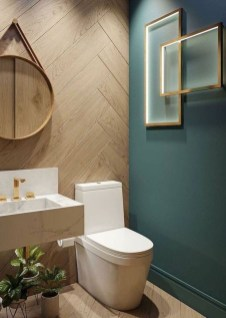 Inspiring Small Bathroom Design Ideas With Wood Decor To Inspire 29