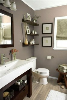 Inspiring Small Bathroom Design Ideas With Wood Decor To Inspire 36