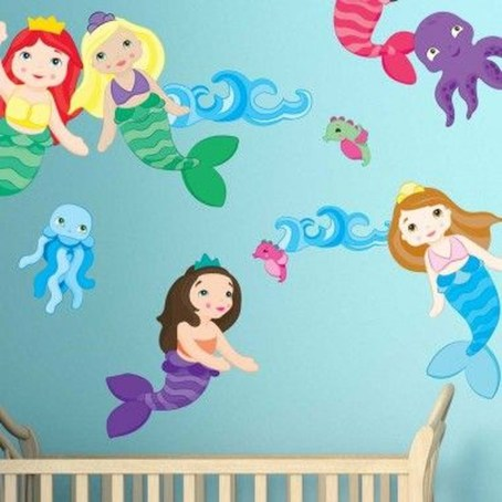 Magnificient Mermaid Themes Ideas For Children Kids Room 17
