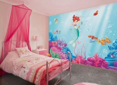 Magnificient Mermaid Themes Ideas For Children Kids Room 18