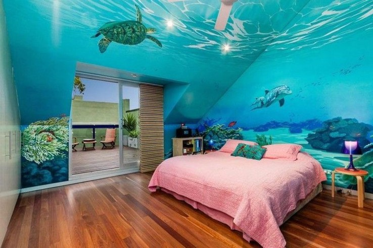 Magnificient Mermaid Themes Ideas For Children Kids Room 40