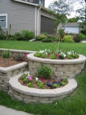 Modern Flower Beds Rocks Ideas For Front House To Try 05