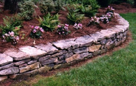 Modern Flower Beds Rocks Ideas For Front House To Try 17