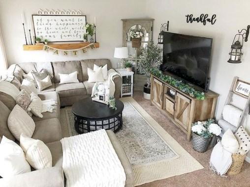 Splendid Farmhouse Living Room Decor Ideas 07