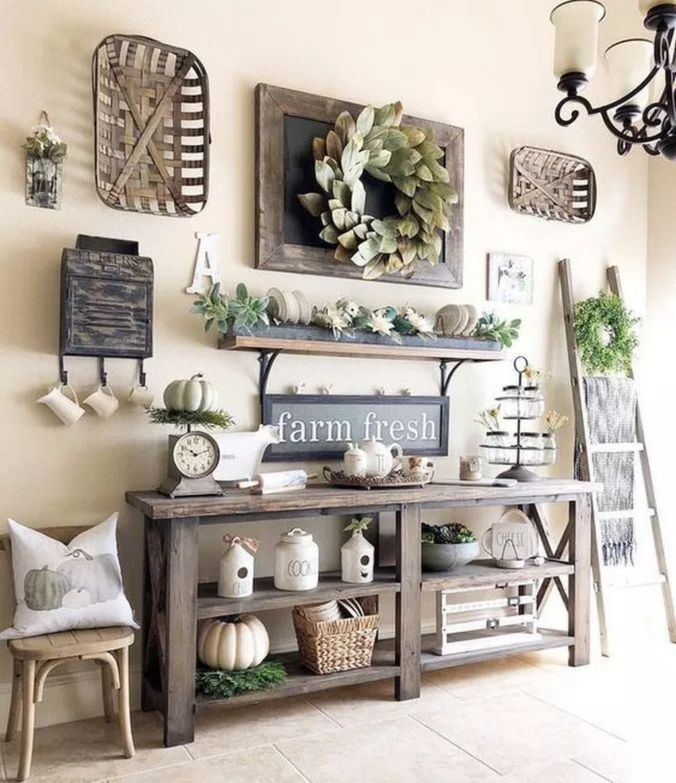 Splendid Farmhouse Living Room Decor Ideas 14
