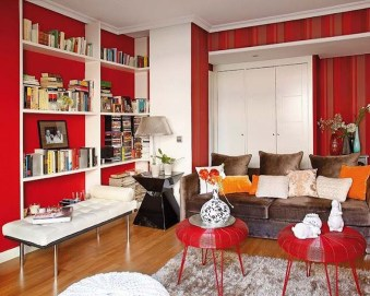 Superb Red Apartment Ideas With Rustic Accents 02
