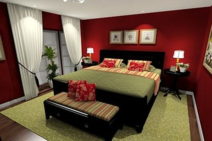 Superb Red Apartment Ideas With Rustic Accents 12