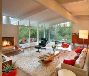 Comfortable And Modern Mid Century Living Room Design Ideas 02