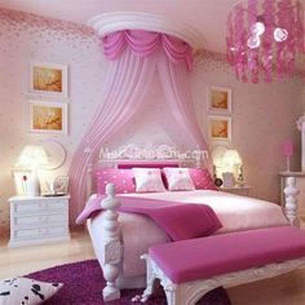 Cute And Girly Pink Bedroom Design For Your Home 42