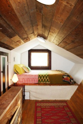 Elegant Small Attic Bedroom For Your Home 02