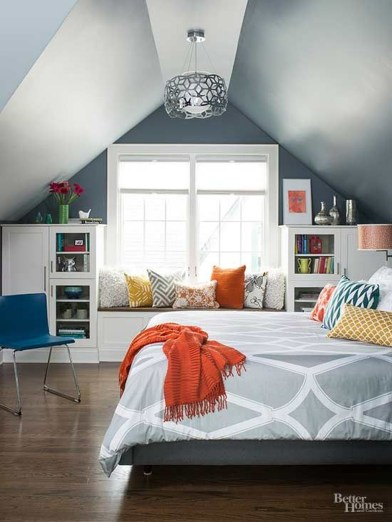 Elegant Small Attic Bedroom For Your Home 15