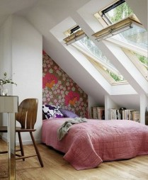 Elegant Small Attic Bedroom For Your Home 26