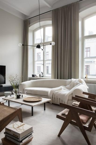 Gorgeous Scandinavian Living Room Design Ideas 04