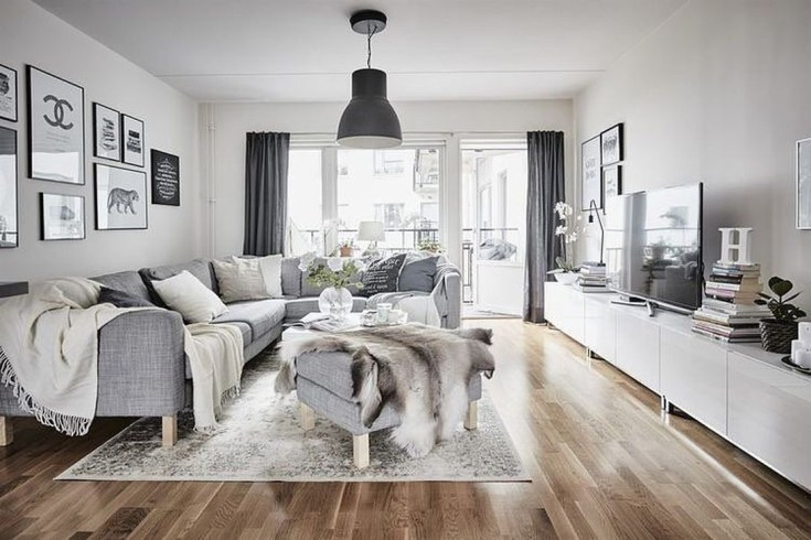 Gorgeous Scandinavian Living Room Design Ideas 15