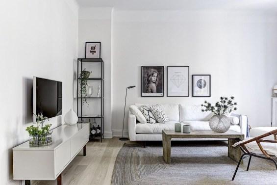 Gorgeous Scandinavian Living Room Design Ideas 20