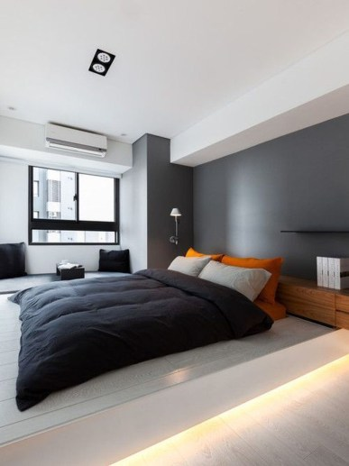 Masculine And Modern Man Bedroom Design Ideas 19