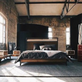 Masculine And Modern Man Bedroom Design Ideas 24