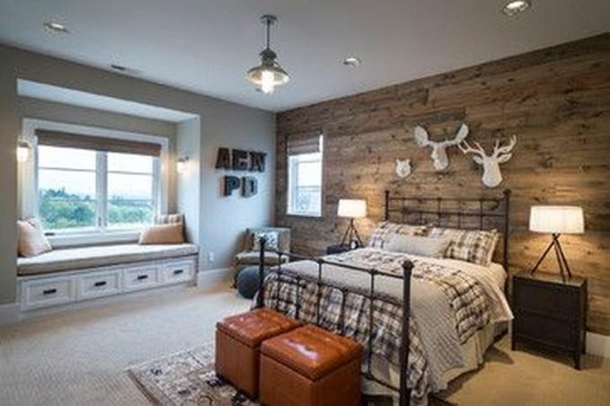 Masculine And Modern Man Bedroom Design Ideas 39