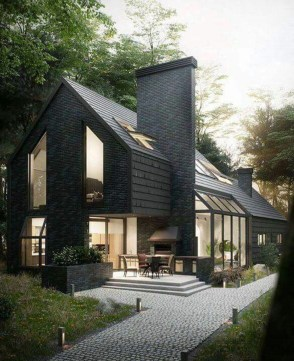Modern Homes Decorating With Black Exteriors 06