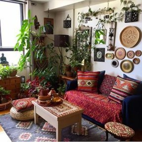 Stunning Bohemian Living Room Design Ideas 05