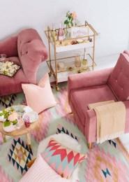 Stunning Bohemian Living Room Design Ideas 14