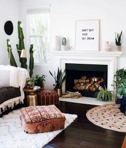 Stunning Bohemian Living Room Design Ideas 21