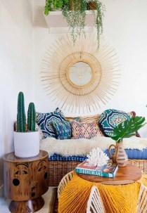 Stunning Bohemian Living Room Design Ideas 24