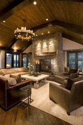 Amazing Lodge Living Room Decorating Ideas 01