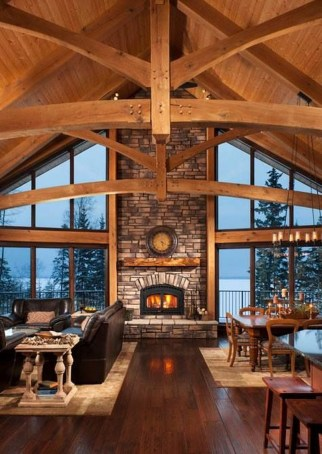 Amazing Lodge Living Room Decorating Ideas 08