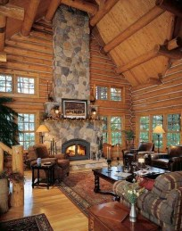 Amazing Lodge Living Room Decorating Ideas 12