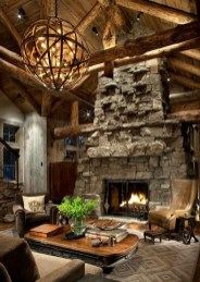 Amazing Lodge Living Room Decorating Ideas 14