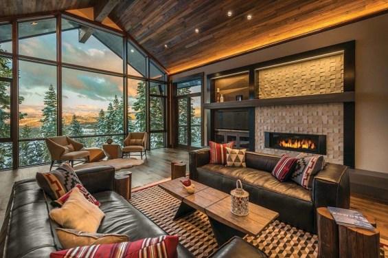 Amazing Lodge Living Room Decorating Ideas 17