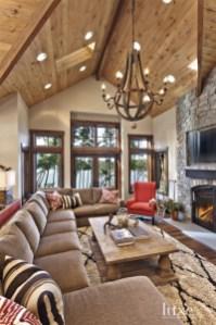 Amazing Lodge Living Room Decorating Ideas 27