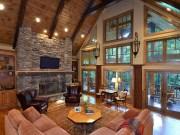 Amazing Lodge Living Room Decorating Ideas 41
