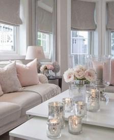 Cute Pink Lving Room Design Ideas 04