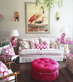 Cute Pink Lving Room Design Ideas 14