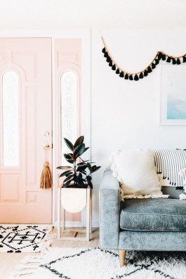 Cute Pink Lving Room Design Ideas 26